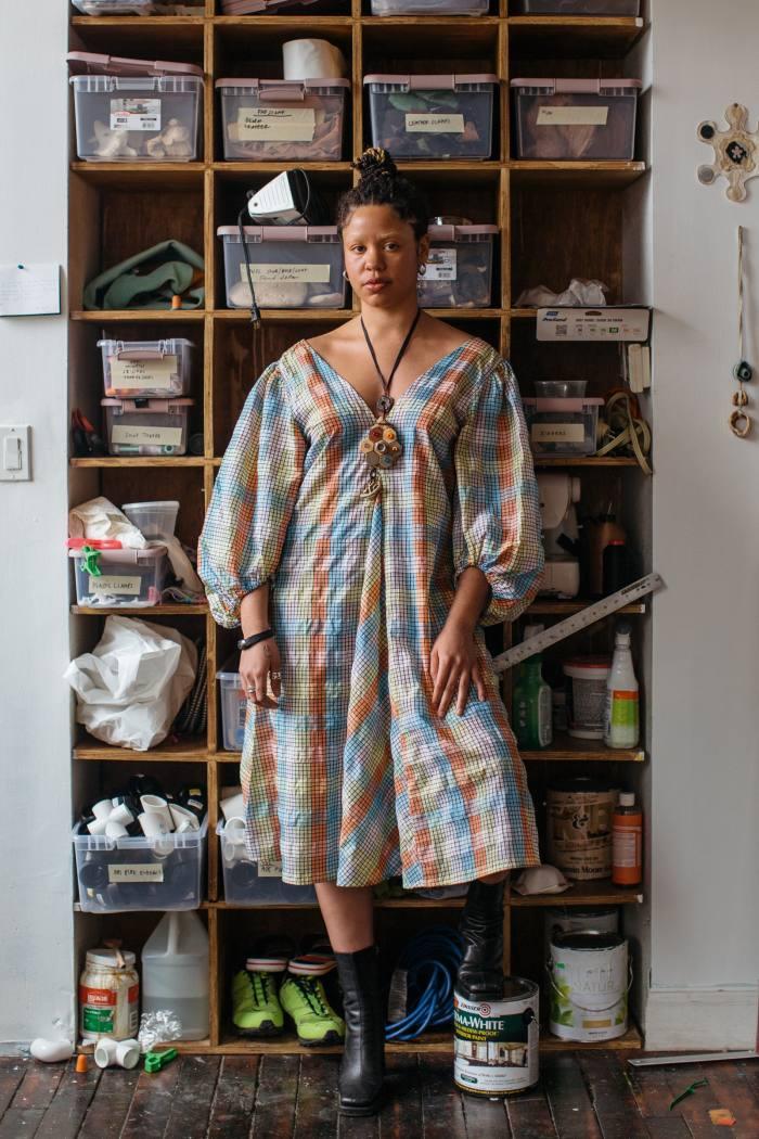 Lewis in her New York studio