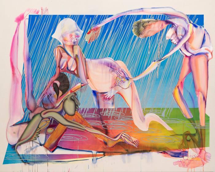 'Pried/Prayed (Hard Rain Gon' Come)' by Christina Quarles, 2020