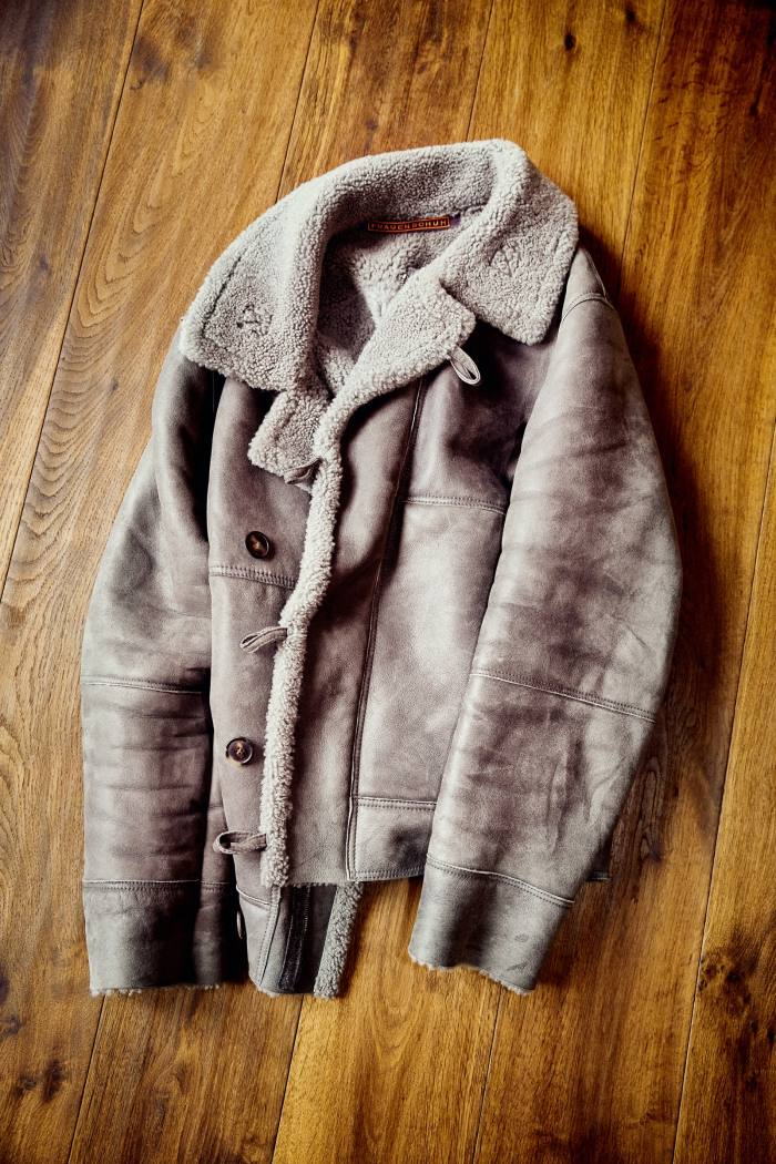 One of his two shearling leatherjackets by Frauenschuh