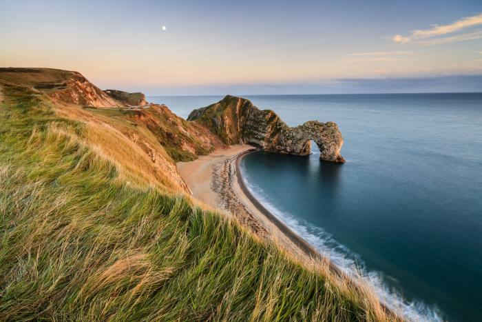 Durdle Door, a natural arch on the Jurassic Coast