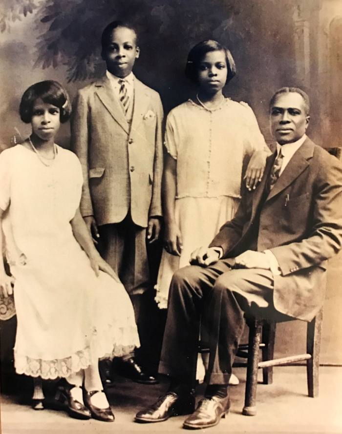 Sarah Elizabeth Lewis' grandfather and family