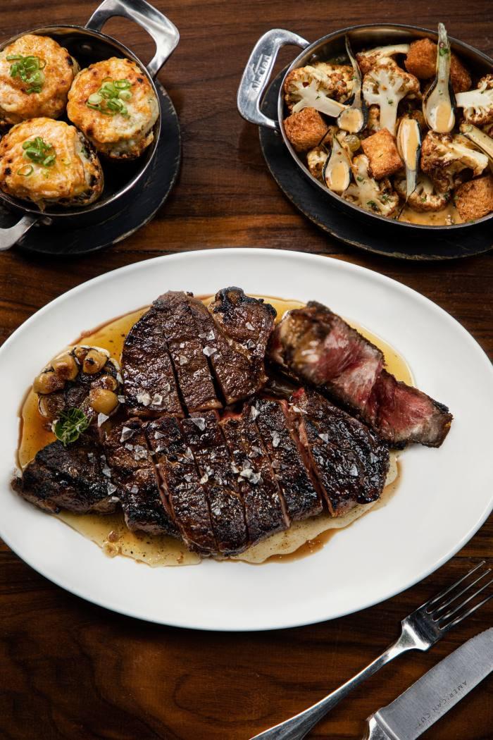 40oz Black Angus tomahawk steak at American Cut in New York