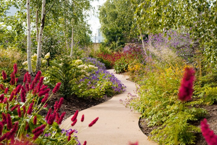 Horatio's Garden Scotland at the NHS spinal-injury centre in Glasgow, designed by James Alexander-Sinclair