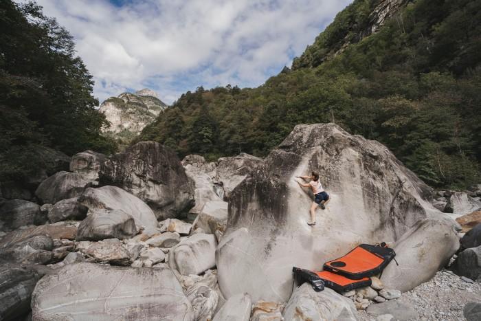 Riverbed bouldering in Brione, Ticino, Switzerland