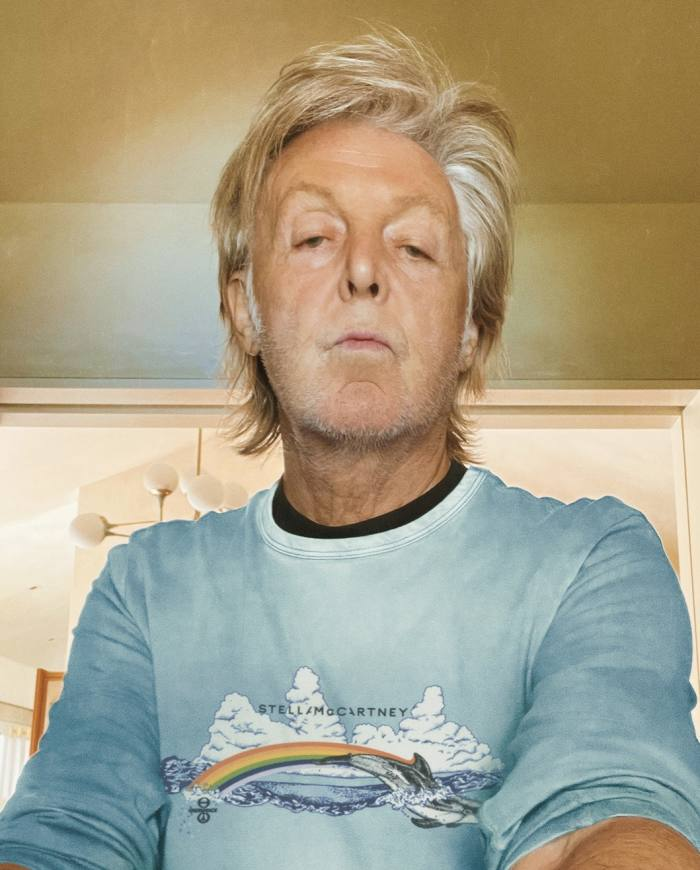 Paul McCartney wears Stella McCartney x Greenpeace T-shirt, £250