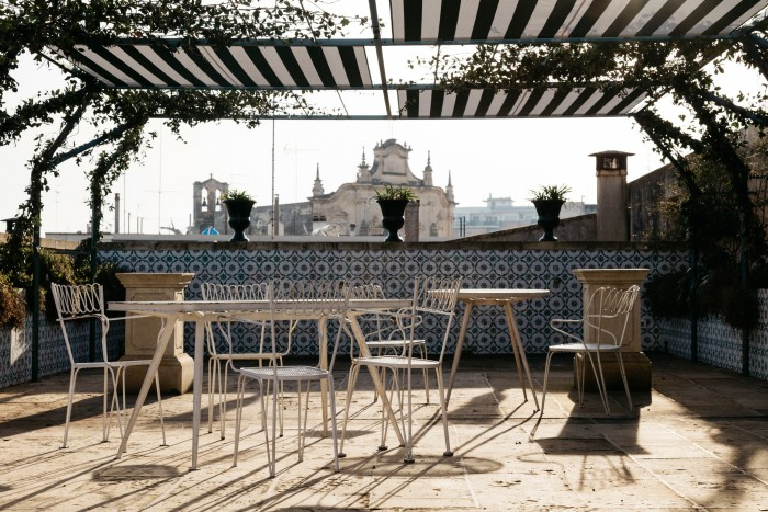 The terrace, with 1940s Gio Ponti outdoor furniture
