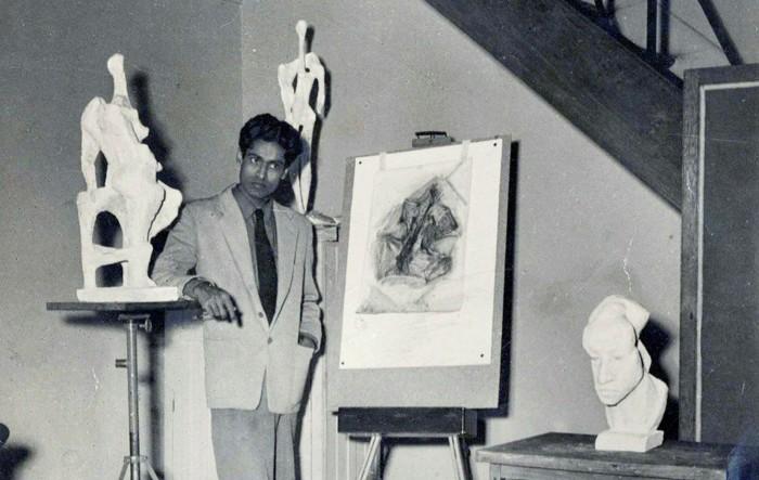 Krishna Reddy in Paris in the 1950s