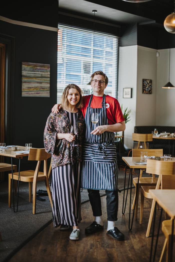 Chef Darren Murray (right) and his wife Aleks at Borough, Edinburgh