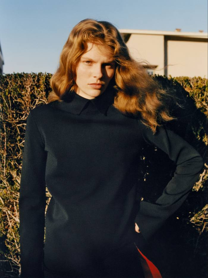 Jil Sander by Lucie and Luke Meier viscose knit top, £1,190, and hand-crocheted viscose dress, £1,390