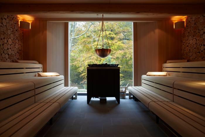 The sauna at Herb House Spa, Limewood Hotel, Hampshire