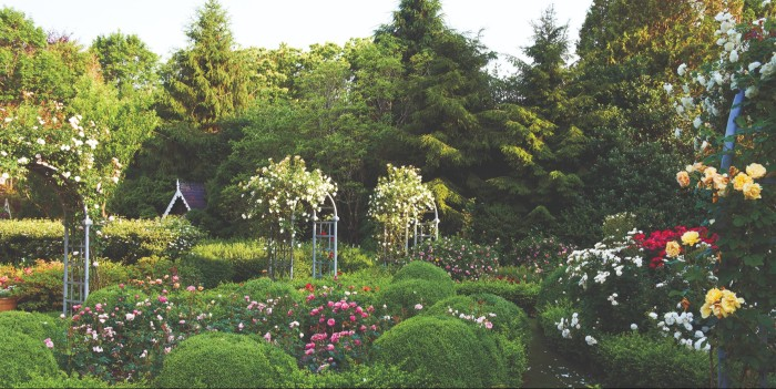 One of Marino's gardens at his home in Southampton, New York