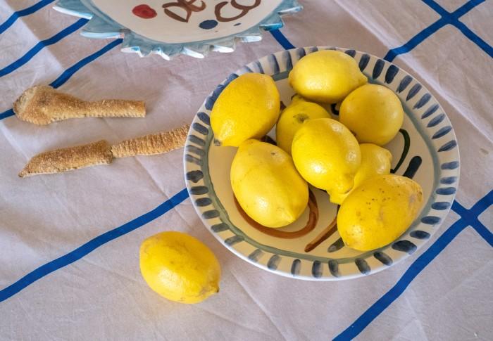Lemons – seen here in one of Leenaert's bowls – are a staple in her fridge