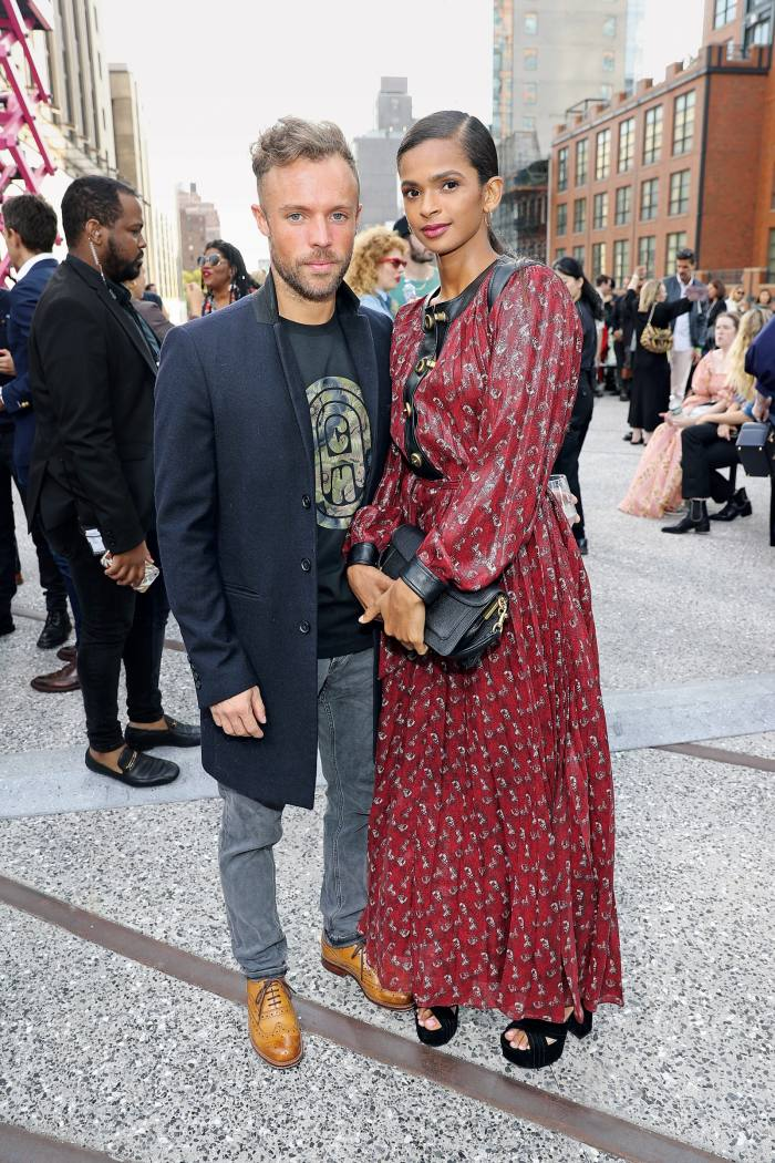 Ali with her husband Richard Moore at New York Fashion Week, 2019