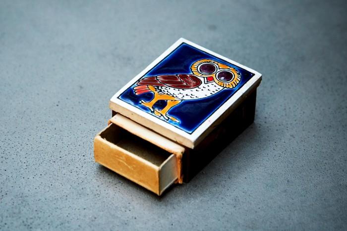 The ceramic matchbox that belonged toJones' mother