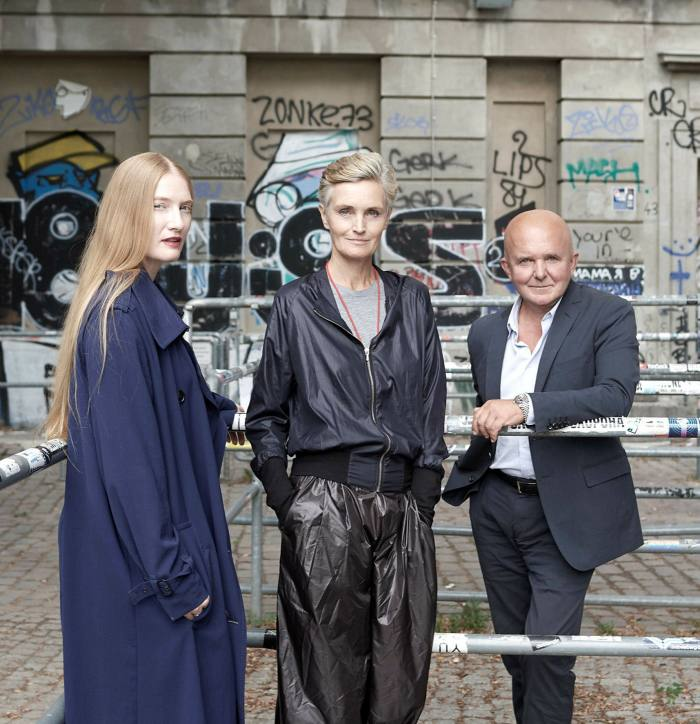 Karen and Christian Boros with Juliet Kothe (left), director of the Boros Foundation