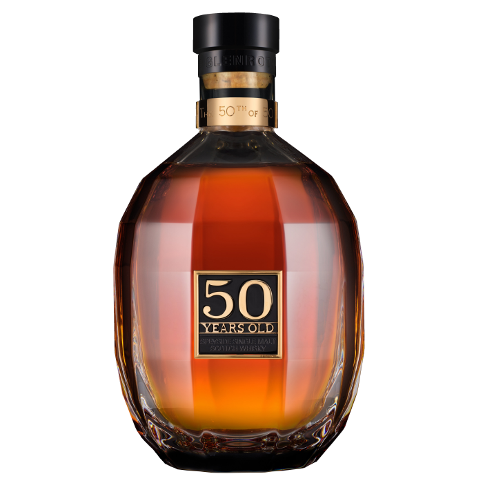 a bottle of 50-year-old single malt from the Glenrothes distillery