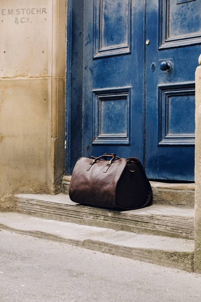 Bennett Winch leather Suit Carrier Holdall,£995