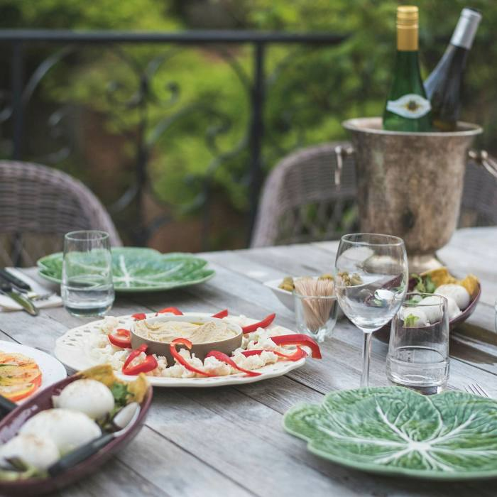 Great food and wine are very much part of the 'detox' side of Les Tilleuls' retreats