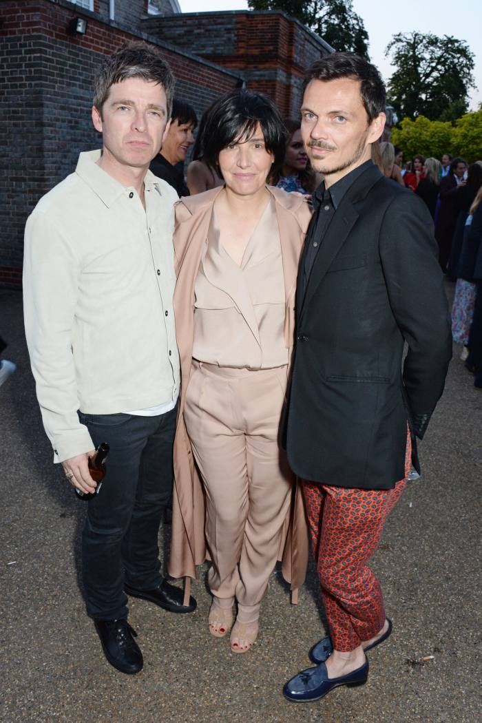 Spiteri with Noel Gallagher and Matthew Williamson at The Serpentine Gallery Summer Party, 2014