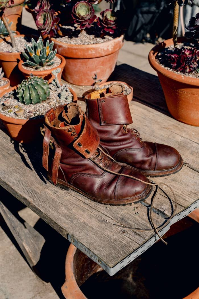 His handmade John Lobb boots were a gift from hiswife, Sarah