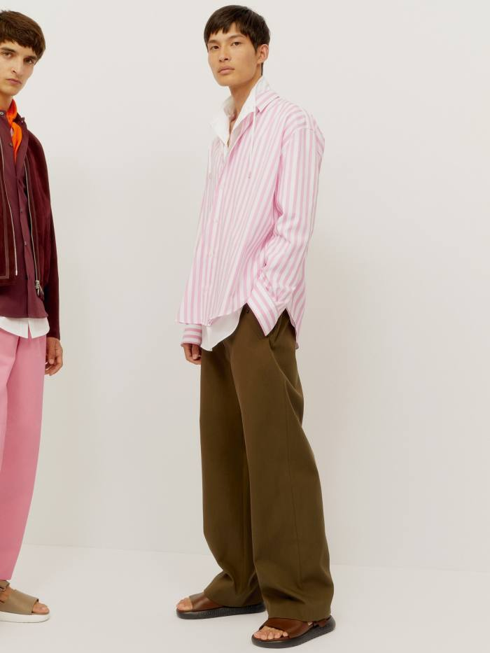 Nichanian never shies away from putting men in pink – or print