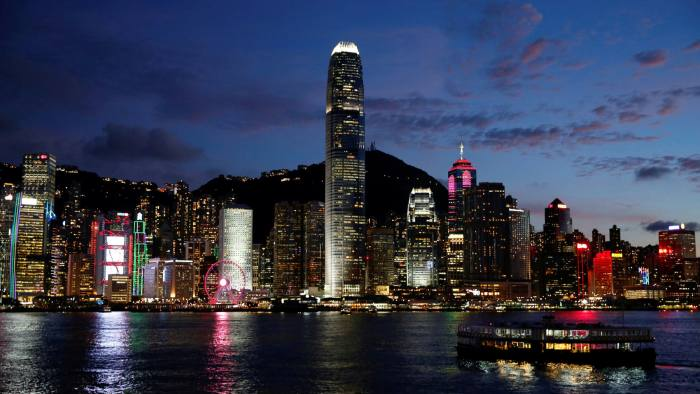 A Star Ferry boat crosses Victoria Harbour in Hong Kong