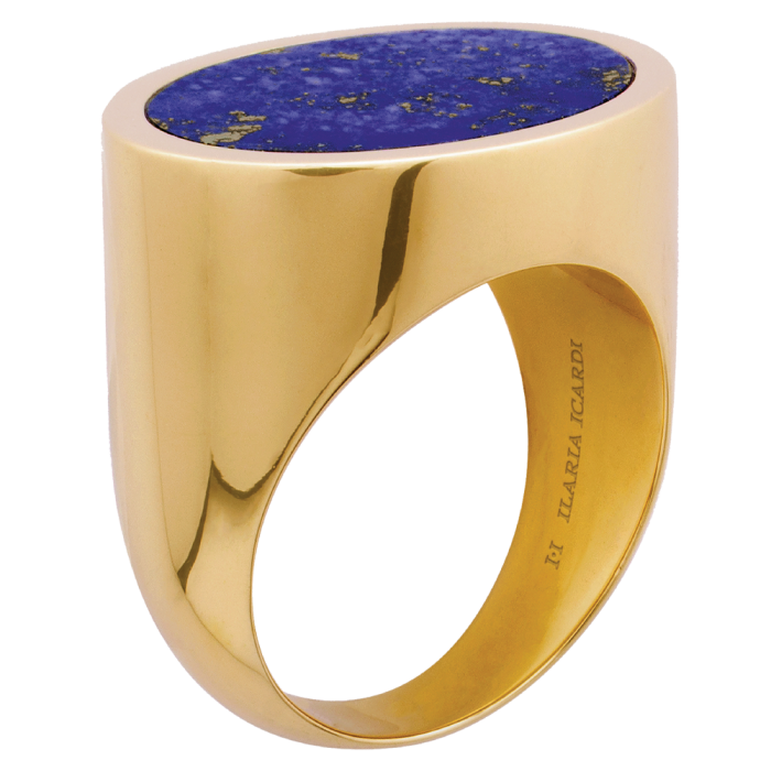 ... and gold and lapis lazuli signet ring, £2,400