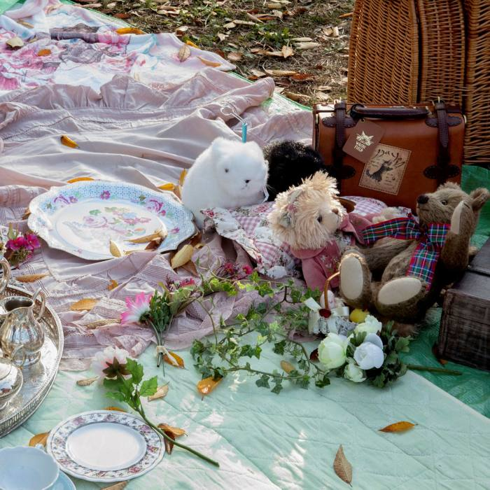 ... gets together in Yoyogi, along with a teddy bear's picnic