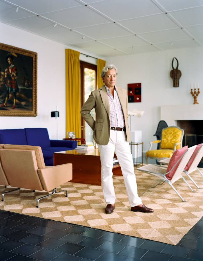 Frédéric Malle at his home in the Hamptons