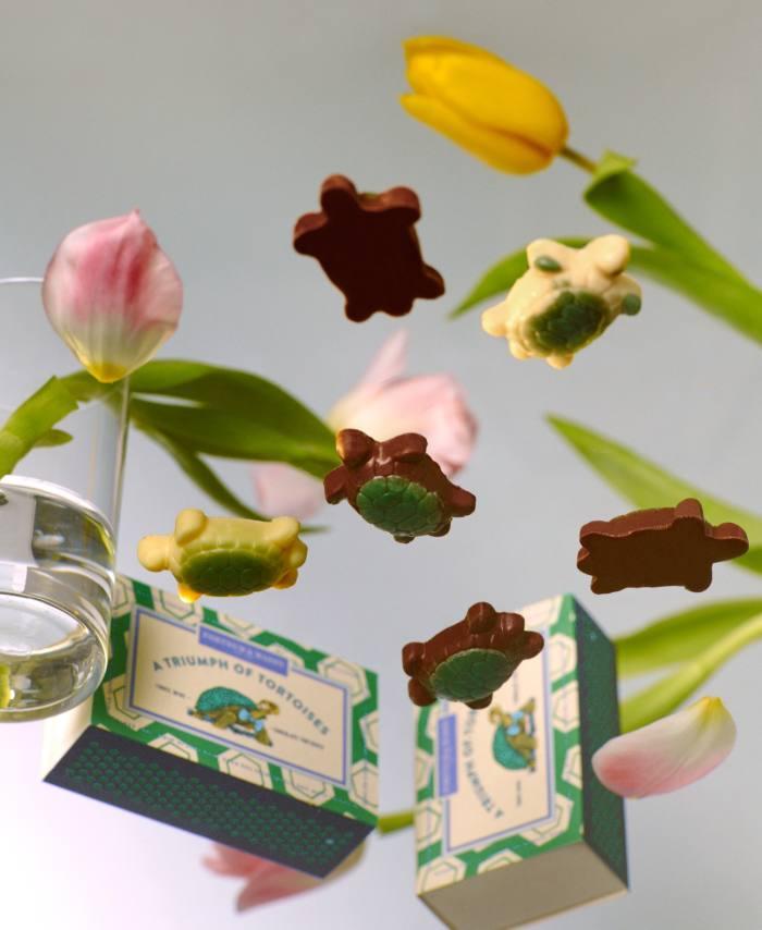 Fortnum & Mason chocolate tortoises, £5.95 for box of three