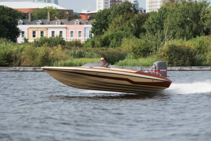 Dorset speedboat fan Peter Bryant's 1985 Glastron CVX