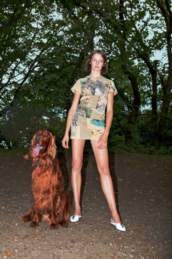 N for nature, certified organic cotton Nature patchwork dress, £595