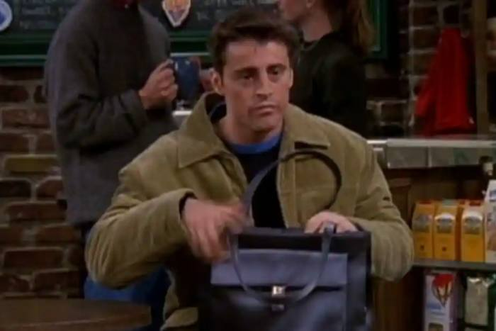 Matt LeBlanc as Joey Tribbiani in the sit-com Friends, 1999