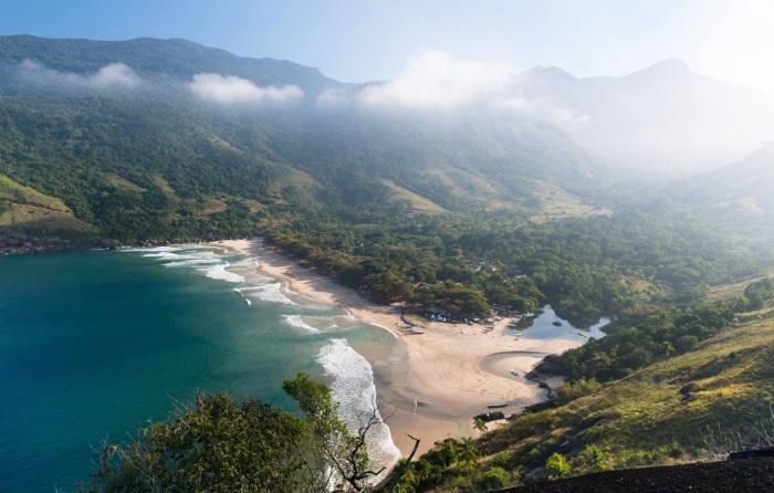 Bonete Beach on the island of Ilhabela
