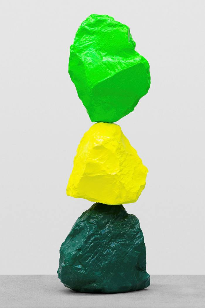 'small green yellow green mountain' (2020) by Ugo Rondinone, on show with Sadie Coles HQ