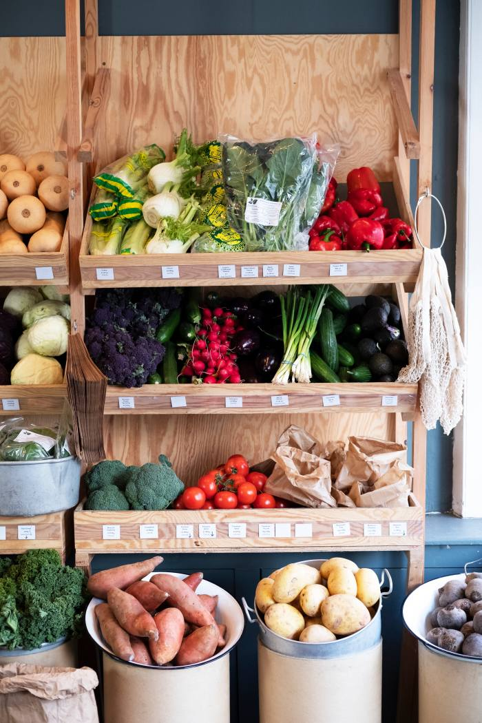 Fresh local produce at KG Winters