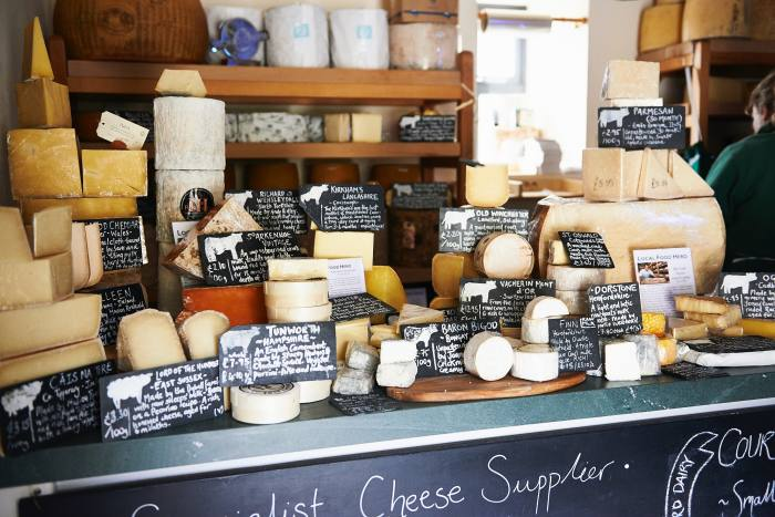 """Part of the """"vast"""" selection at the award-winning Yorkshire cheesemonger"""