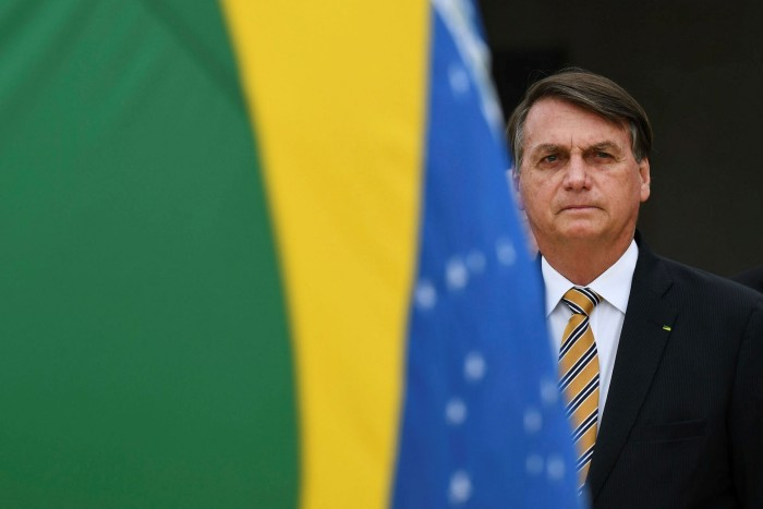 Mixed message: President Jair Bolsonaro promised to double resources for enforcing environmental laws, but went on to slash funding