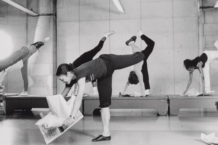 Dancers rehearsing at Boston's Dance Collective