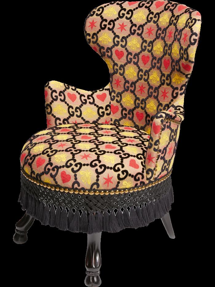 GG jacquard armchair by Gucci, £4,350, gucci.com